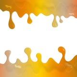 Amberverf het druipen tekstlay-out Stock Afbeelding