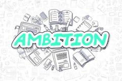 Ambição - palavra verde dos desenhos animados Conceito do negócio ilustração do vetor