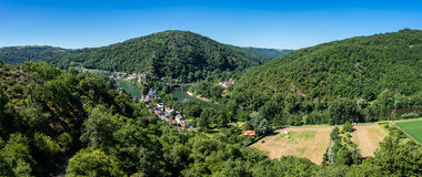 Ambialet village, France. View of Ambialet, a small village in the Tarn department, France Royalty Free Stock Image