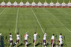 Ambiance. 18th European and mediterranean Archery Championships.Vittel.France.12 to 17 May 2008 Stock Image