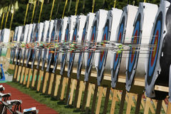 Ambiance. 18th European and mediterranean Archery Championships.Vittel.France.12 to 17 May 2008 Royalty Free Stock Photo