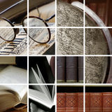 Ambiance da biblioteca imagem de stock