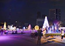 Ambiance de visite de voyageur dans le festival 2017 d'illumination de la Thaïlande Photos stock