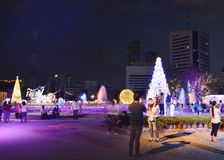 Ambiance of traveler visit in Thailand illumination festival 2017 Stock Photos