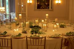 Ambience Around a Festive Table Stock Image