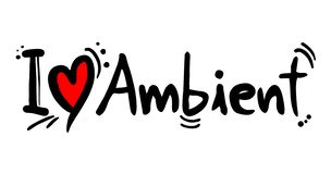 Ambient music love. Creative design of ambient music love royalty free illustration