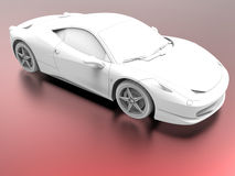 Ambient occlusion sports car Royalty Free Stock Photography