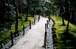 Ambient Path. A winding path in a zen garden royalty free stock photo