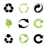 Ambiental/reciclando iconos Fotografía de archivo libre de regalías