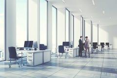 Ambiente aberto do escritório do branco, canto, pessoa Fotos de Stock