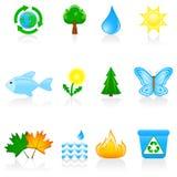 Ambiente ajustado do ícone Imagem de Stock