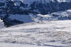 Ambiente alpino en las montañas suizas Imagen de archivo libre de regalías