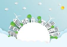 Ambiente amistoso del eco verde ilustración del vector