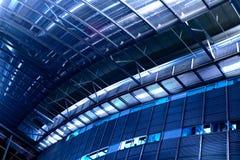 Ambiente azul de la oficina Foto de archivo