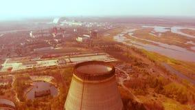 Ambiente contaminato radioattivo, Cernobyl video d archivio