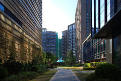 Ambiente da comunidade dos bens imobiliários de China Fotografia de Stock Royalty Free