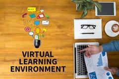 Ambiente de aprendizagem virtual Imagens de Stock