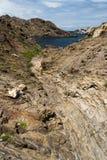 Ambiente de Cap de Creus. Costa Brava, España. Imagen de archivo libre de regalías