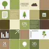 Ambiente de Infographic Imagenes de archivo