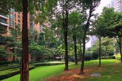 Ambiente de la comunidad de las propiedades inmobiliarias de China fotografía de archivo