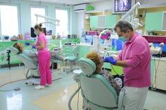 Ambiente de trabalho no escritório dental Imagem de Stock Royalty Free
