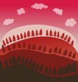 Ambiente delle colline e dei pini Fotografia Stock Libera da Diritti