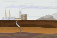 Ambiente di inquinamento Illustrazione di Stock