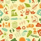 Ambiente, ecologia senza cuciture, modello Priorità bassa ambientale Immagini Stock Libere da Diritti