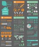 Ambiente, elementi infographic di ecologia Rischi ambientali, royalty illustrazione gratis