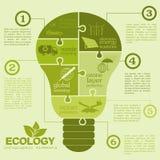 Ambiente, elementi infographic di ecologia Rischi ambientali, Immagine Stock Libera da Diritti