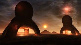 Ambiente estranho do planeta ilustração do vetor