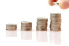 Ambiente financiero del asunto - gráfico de la moneda Foto de archivo libre de regalías