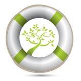 Ambiente i di eco della salvavita di SOS Immagini Stock