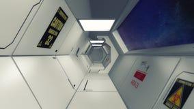 Ambiente interior futurista Foto de Stock Royalty Free