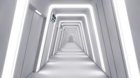 Ambiente interior futurista Fotos de Stock