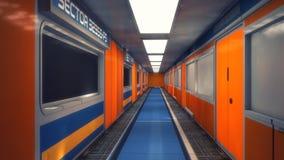 Ambiente interior futurista ilustração stock