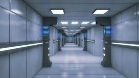 Ambiente interno futuristico royalty illustrazione gratis