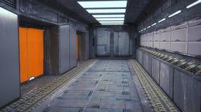 Ambiente interno futuristico Fotografia Stock