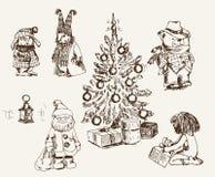 Ambiente mágico de la Navidad Foto de archivo libre de regalías