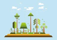Ambiente minimalista das árvores imagem de stock
