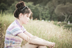 Ambiente natural das mulheres do retrato Fotos de Stock Royalty Free