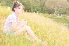 Ambiente natural das mulheres do retrato Imagem de Stock