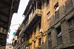 Ambiente residenziale dell'alloggio nella città di Kathmandu vicino al quadrato di Durba, Kathmandu, Nepal Immagini Stock Libere da Diritti