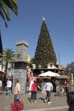 Ambiente urbano de la Navidad Imagen de archivo libre de regalías
