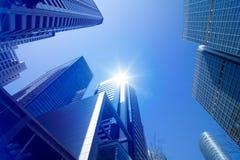 Ambiente urbano do arranha-céus imagens de stock royalty free