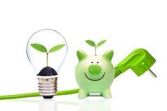 Ambiente verde da energia e da economia imagem de stock