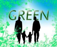 Ambiente verde da família Ilustração Royalty Free
