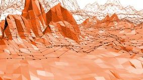 Ambiente vibrante del mosaico digital poligonal o fondo que agita en el diseño moderno popular polivinílico 3D de la historieta b stock de ilustración