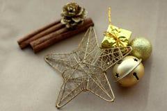 Ambientes de la Navidad y materia del ` s del Año Nuevo Imagen de archivo libre de regalías