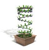 Ambigious Frühling in einem Blumenpotentiometer Lizenzfreie Stockfotos